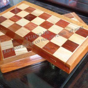 bàn cờ vua ghép ô gỗ hương đẹp
